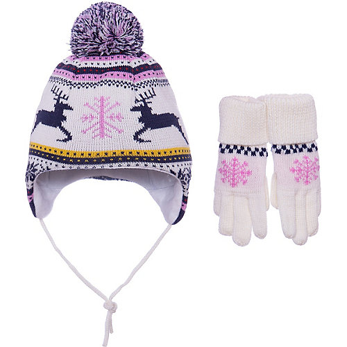 Комплект Janus: шапка и перчатки - белый от Janus