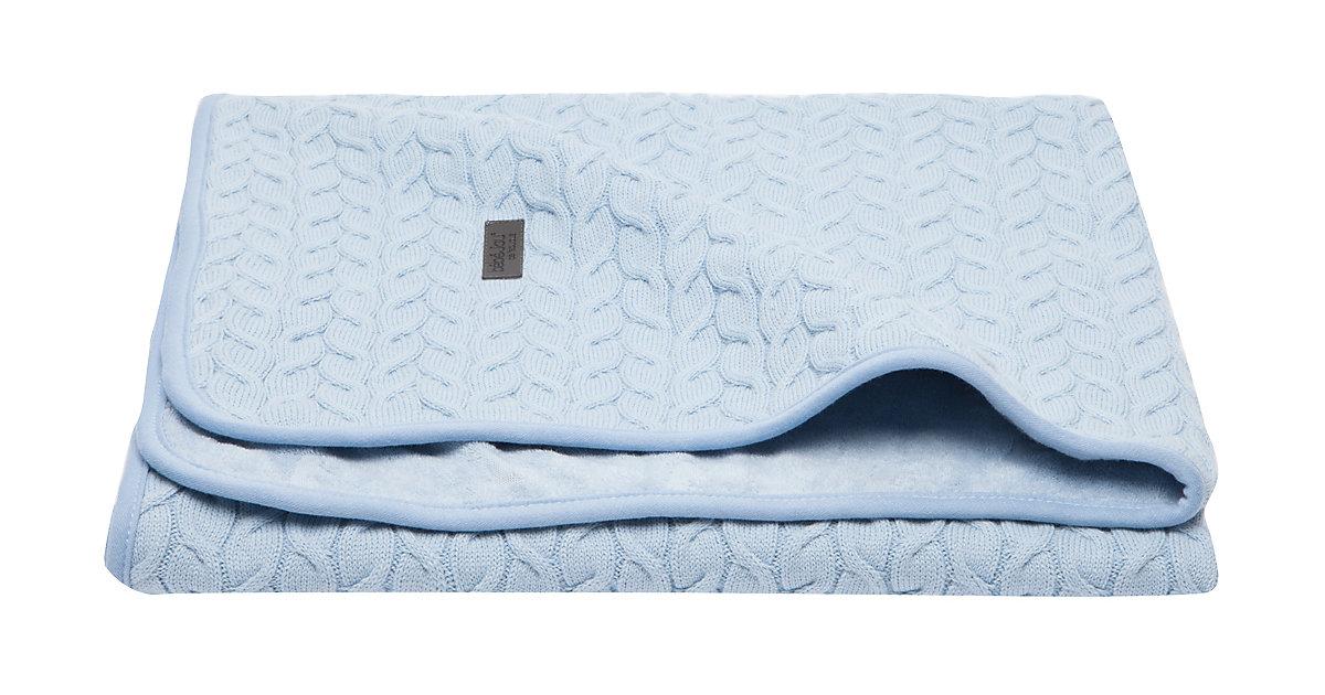 bébé jou · Babydecke Samo, 90x140 cm, Frosted Blue