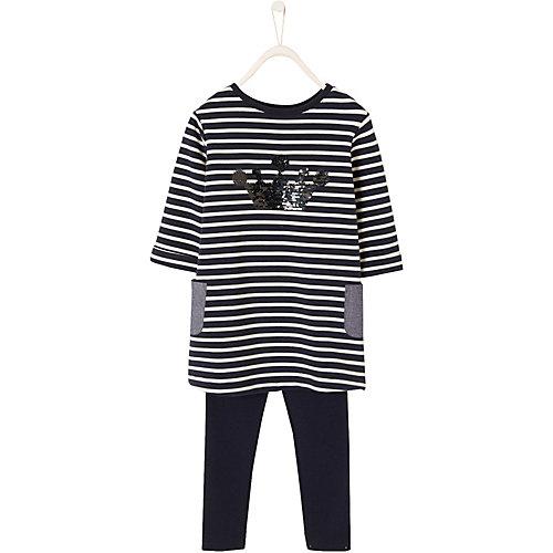 Kinder Set Jerseykleid mit Wendepailetten + Leggings Gr. 116 Mädchen Kinder | 03611652619921