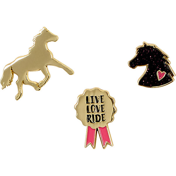 I LOVE HORSES: Pins (vergoldet)
