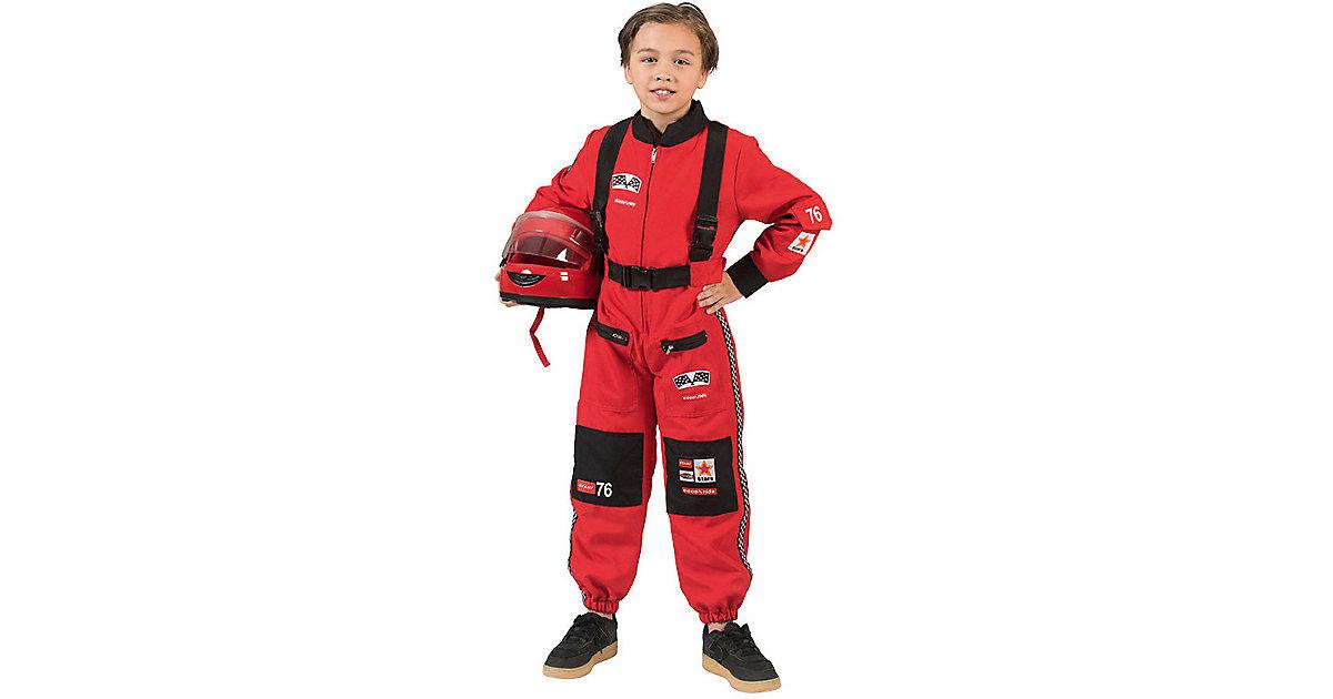 Kostüm Rennfahrer rot Gr. 116 Jungen Kinder