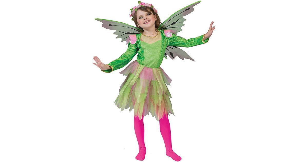 Kostüm Blumenfee grün/pink Gr. 140 Mädchen Kinder