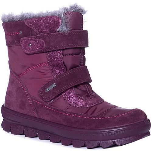 Утепленные ботинки Superfit - бордовый от superfit