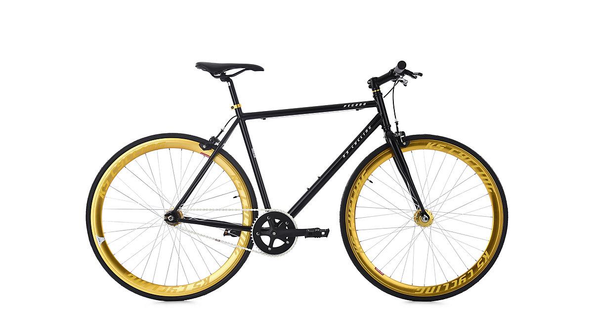 KS Cycling · Fixie Fitnessbike 28´´ Pegado schwarz-gold RH 59 cm KS Cycling