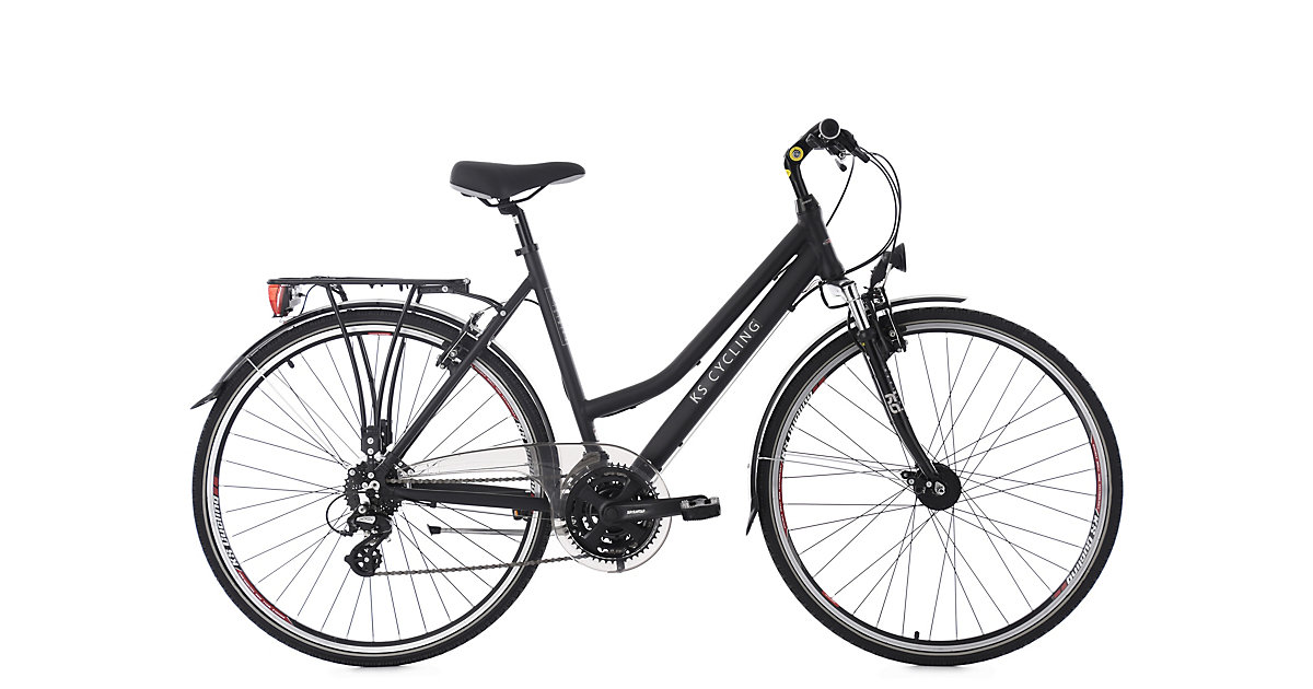 KS Cycling · Trekkingrad Damen 28´´ Norfolk schwarz Alu-Rahmen Flachlenker KS Cycling