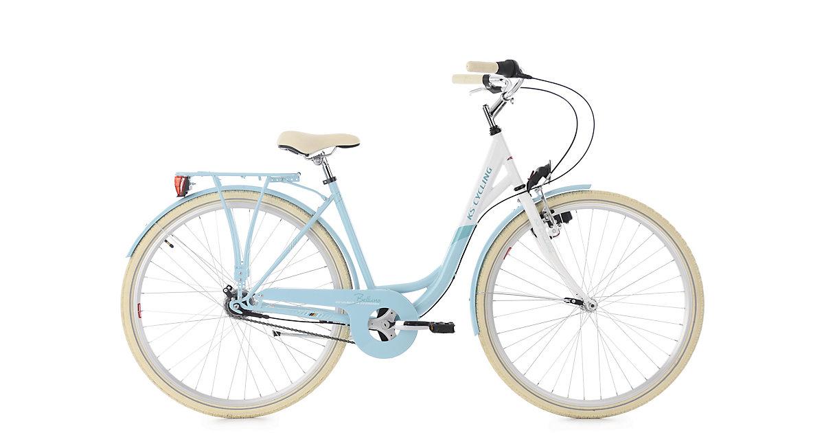 KS Cycling · Damenfahrrad 28´´ Belluno hellblau 7 Gänge RH 48 cm KS Cycling