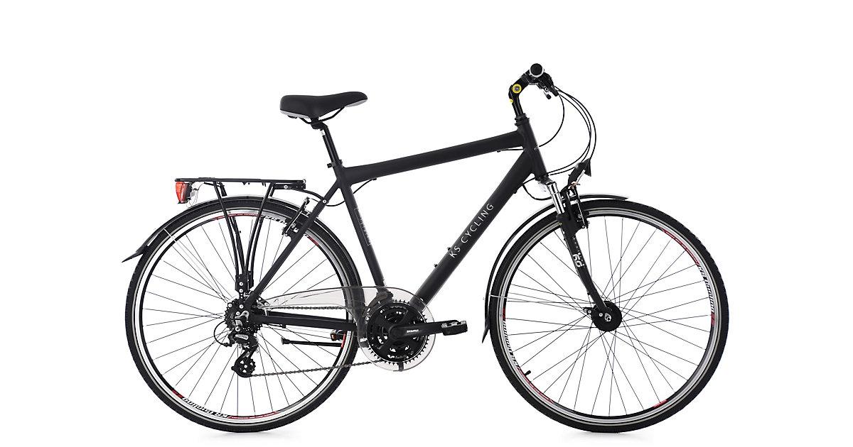 KS Cycling · Trekkingrad Herren 28´´ Norfolk 24 Gang schwarz RH 53 cm Tourenlenker KS Cycling