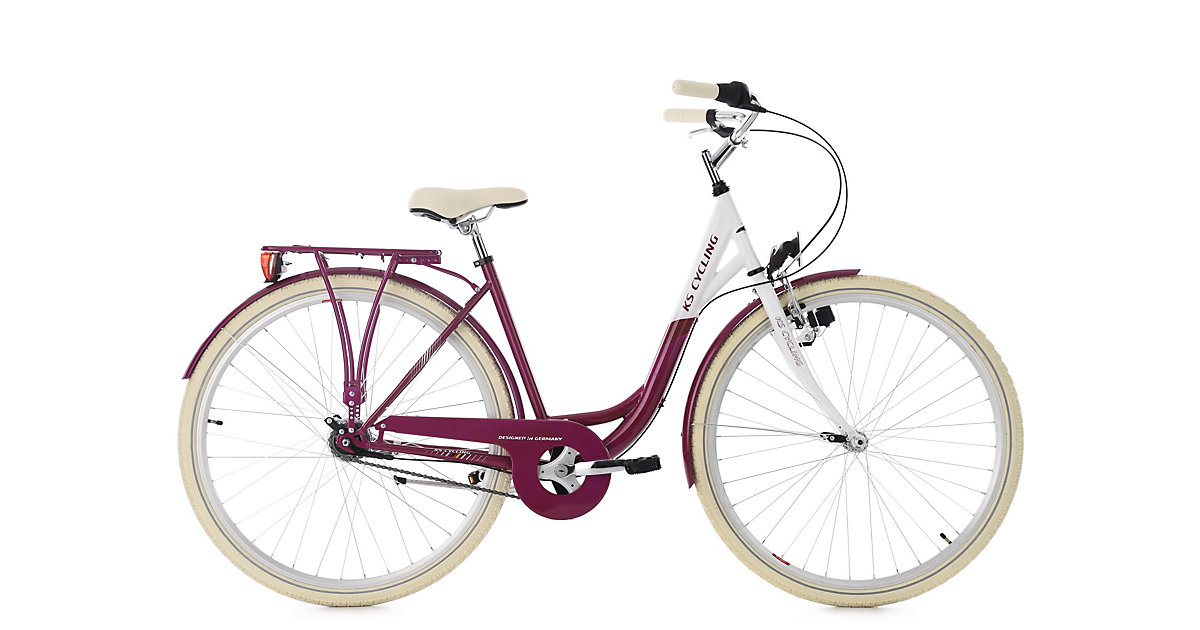 KS Cycling · Damenfahrrad 28´´ Belluno brombeer 7 Gänge RH 48 cm KS Cycling