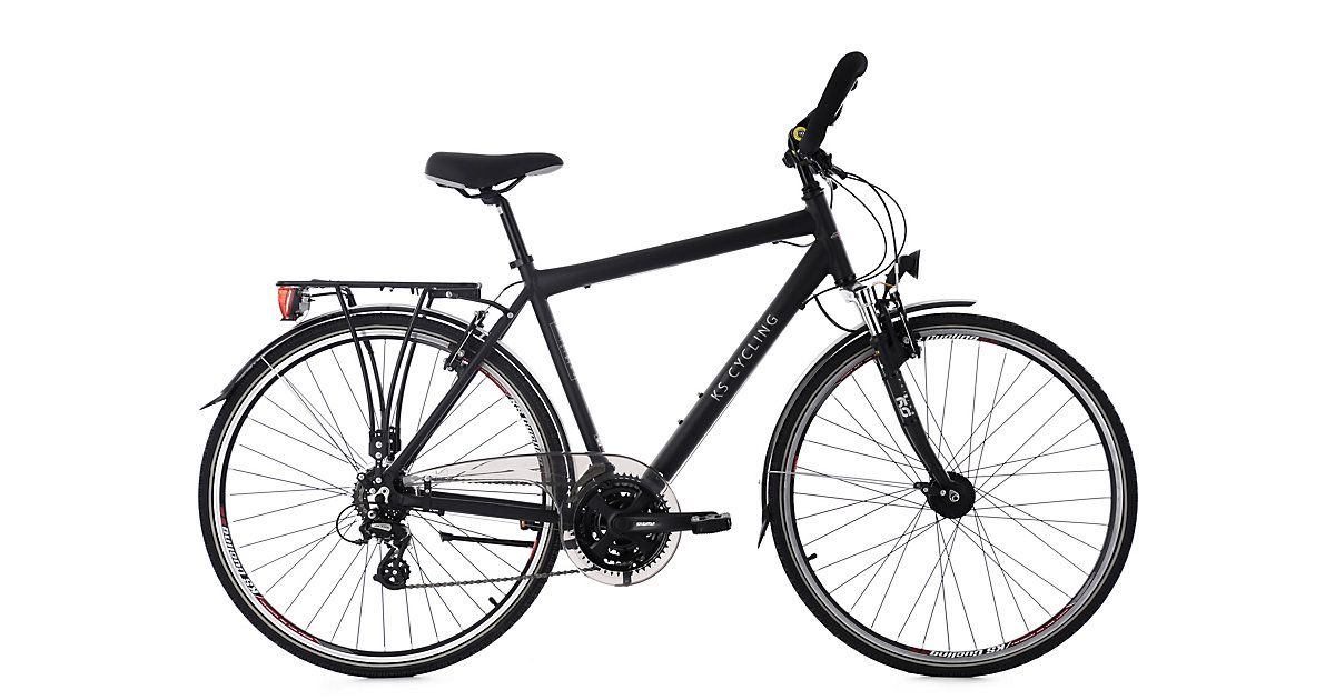 KS Cycling · Trekkingrad Herren 28´´ Norfolk 24 Gang schwarz RH 56 cm Multipositionslenker KS Cycling