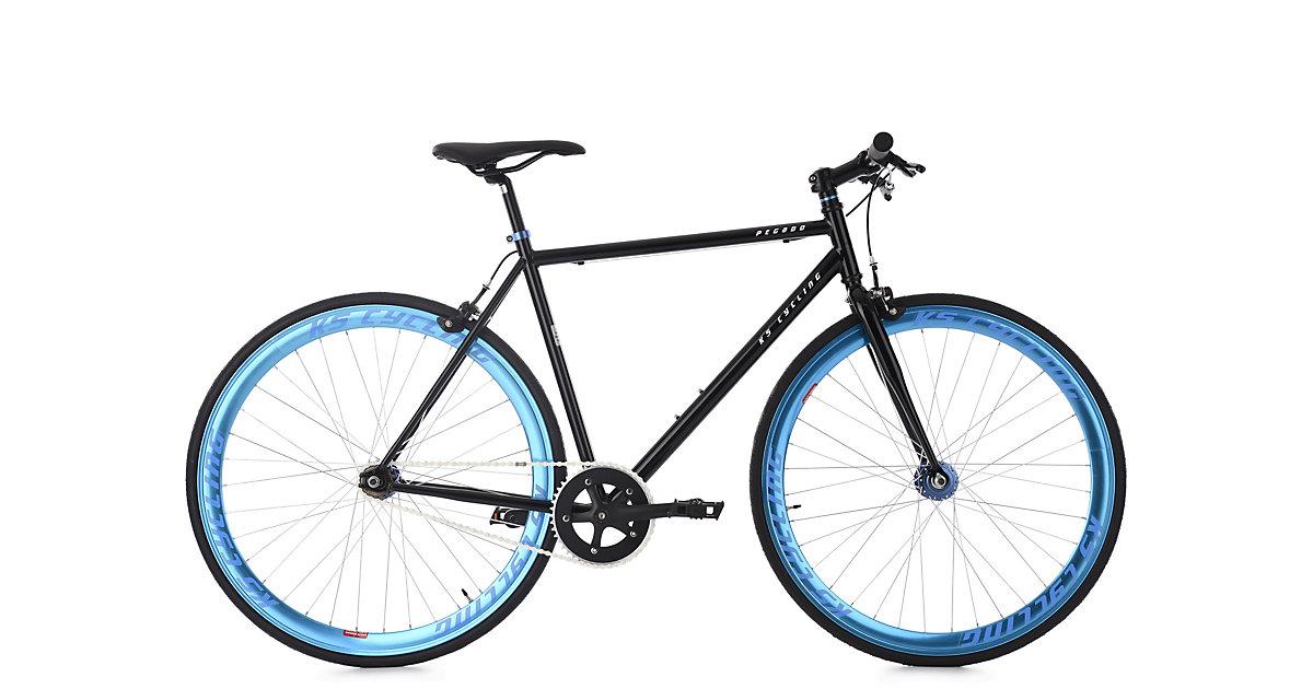 KS Cycling · Fixie Fitnessbike 28´´ Pegado schwarz-blau RH 56 cm KS Cycling