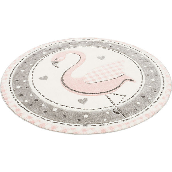 Kinder Teppich Maui Kids Pastell Rosa Flamingo Rund ...
