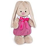 Мягкая игрушка Budi Basa Зайка Ми в платье в розовую полоску, 25 см