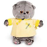 Мягкая игрушка Budi Basa Кот Басик Baby в желтой курточке в китайском стиле, 20 см