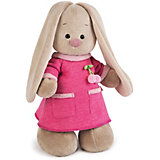 Мягкая игрушка Budi Basa Зайка Ми в бледно-розовом платье с вишенкой, 32 см