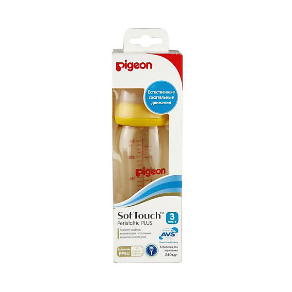 Бутылочка для кормления Pigeon SofTouch Перистальтик плюс 240 мл