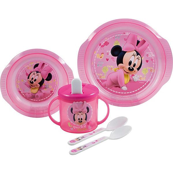 Baby-Geschirrset Minnie Mouse, 5-tlg., Disney Minnie Mouse | myToys