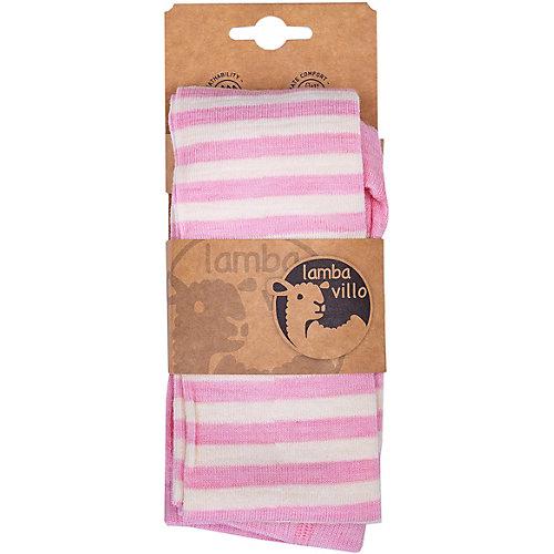 Колготки merino Lamba villo - розовый/белый от Lamba villo
