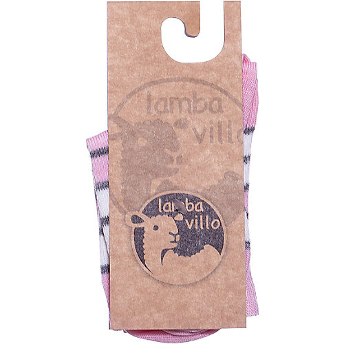 Носки merino Lamba villo - розовый/белый от Lamba villo