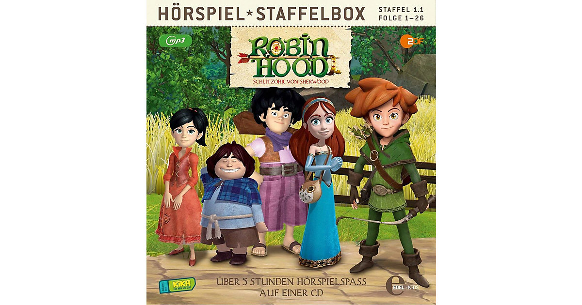 Edel · CD Robin Hood - Schlitzohr von Sherwood - MP3 Staffelbox (Staffel 1.1,Folge 1-26)