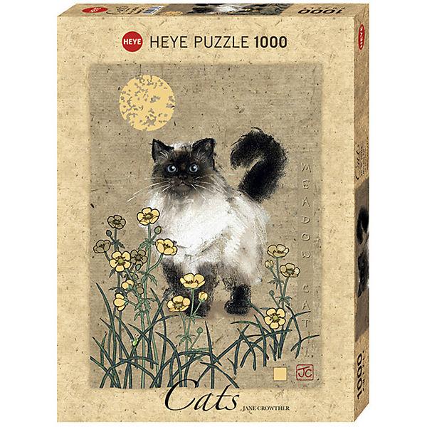 "Пазлы HEYE ""Кошка на лугу"",  1000 деталей, с фольгой"