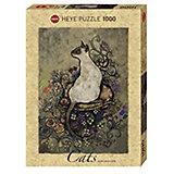 """Пазлы HEYE """"Сиамская кошка"""",  1000 деталей, с фольгой"""