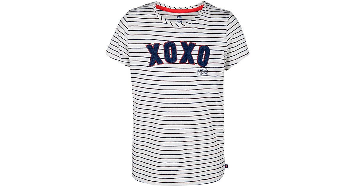 T-Shirt SABIA mit Frottee-Applikation weiß Gr. 110/116 Mädchen Kinder