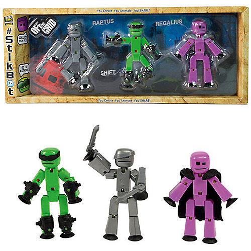 Три фигурки Stikbot Off the Grid, Raptus от Zing