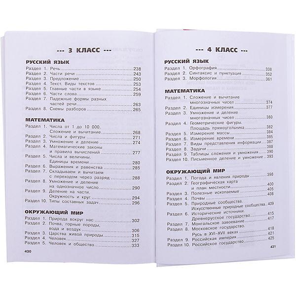 """Обучающее пособие """"Весь курс начальной школы в схемах и таблицах"""" 1-4 класс. Русский язык, математика, окружающ"""