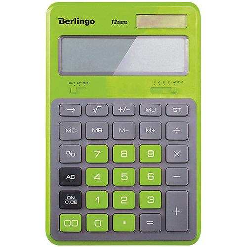 """Настольный калькулятор Berlingo """"Hyper"""", зеленый от Berlingo"""