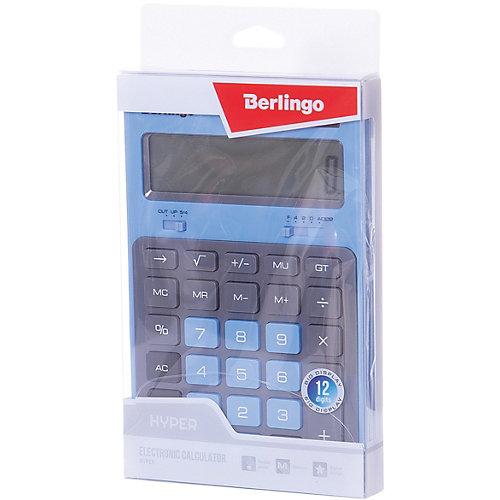 """Настольный калькулятор Berlingo """"Hyper"""", синий от Berlingo"""