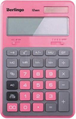 """Настольный калькулятор Berlingo """"Hyper"""", розовый"""
