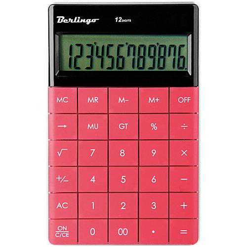 Настольный калькулятор Berlingo, тёмно-розовый от Berlingo