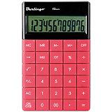 Настольный калькулятор Berlingo, тёмно-розовый