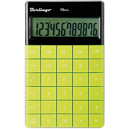 Настольный калькулятор Berlingo, зеленый от Berlingo