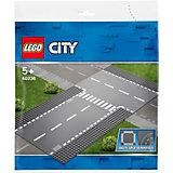 Конструктор LEGO City Supplementary 60236: Прямой и Т-образный перекрёсток