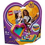 Конструктор LEGO Friends 41354: Шкатулка-сердечко Андреа