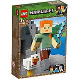 Конструктор LEGO Minecraft 21149: Большие фигурки, Алекс с цыплёнком