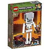 Конструктор LEGO Minecraft 21150: Большие фигурки, Скелет с кубом магмы