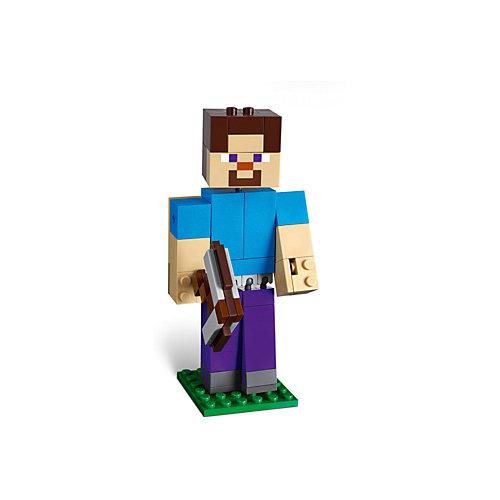Конструктор LEGO Minecraft 21148: Большие фигурки, Стив с попугаем от LEGO