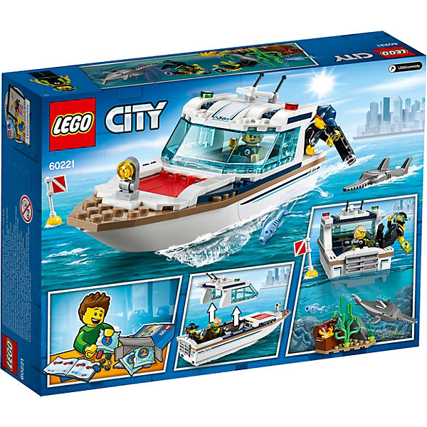 Конструктор LEGO City Great Vehicles 60221: Яхта для дайвинга