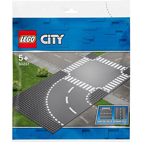 Конструктор LEGO City Supplementary 60237: Поворот и перекрёсток от LEGO