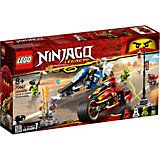 Конструктор LEGO Ninjago 70667: Мотоцикл-клинок Кая и снегоход Зейна