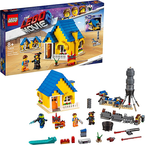 LEGO 70831 Lego Movie 2: Emmets Traumhaus/Rettungsrakete!, LEGO Movie