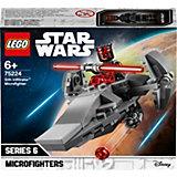 Конструктор LEGO Star Wars 75224: Микрофайтеры: Корабль-лазутчик ситхов