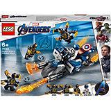 Конструктор LEGO Super Heroes 76123: Капитан Америка: Атака Аутрайдеров