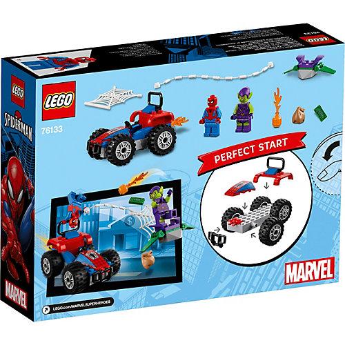 Конструктор LEGO Super Heroes 76133: Автомобильная погоня Человека-паука от LEGO