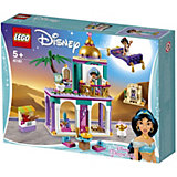 Конструктор LEGO Disney Princess 41161: Приключения Аладдина и Жасмин во дворце