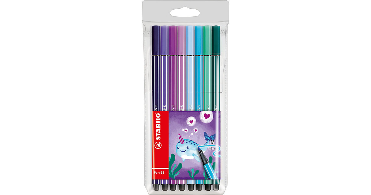 Filzstifte Pen 68 Etui Living Colors Ltd. Ed. Narwhal, 8 Farben