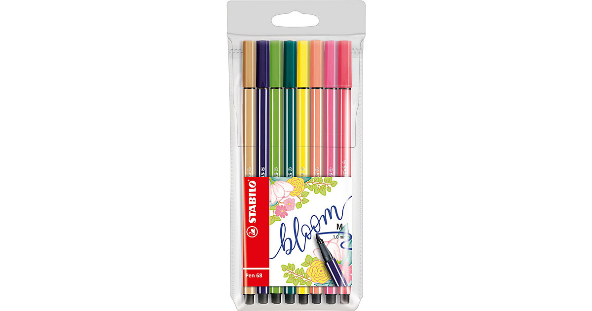 Filzstifte Pen 68 Etui Living Colors Ltd. Ed. Bloom, 8 Farben