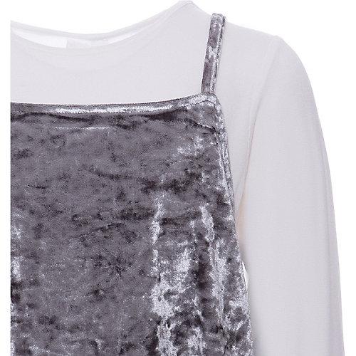 Комплект iDO: топ, лонгслив - серый от iDO